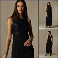 Wallis Maxi Dress Size 20 | Black Sequin Style | BNWT | £70 RRP | Brand New!