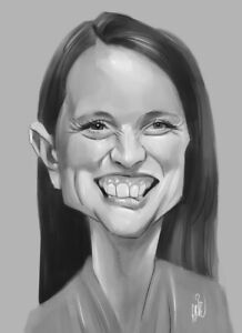 CARICATURE from PHOTOS - 1 Person A3 - Black & White - Digital Hand Drawn Art!