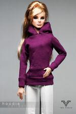 FR1206 Dk. Purple  Slim Fit Hoodie for Barbie Fashion Royalty FR2 Poppy Parker