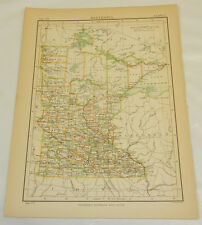 1883 Antique Color Map/Minnesota