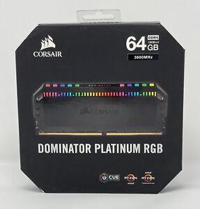 CORSAIR Dominator Platinum RGB 64GB (4 x 16GB) DDR4 3600 CL18 CMT64GX4M4Z3600C18