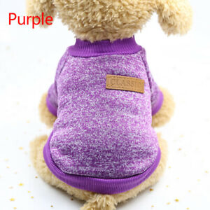 Dog Winter Warm Sweater Small Pet Coat Clothes Puppy Jacket Apparel XS-2XL