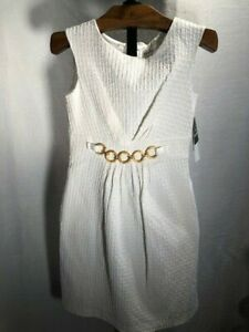 Dress Studio I Women's Sleeveless White Lined Dress NEW Size 8