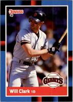 1988 Will Clark Donruss Baseball Card #204