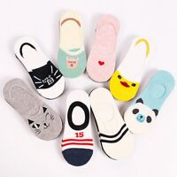 5 Pairs Women Invisible Nonslip No Show Loafer Boat Liner Low Cut Cotton Socks