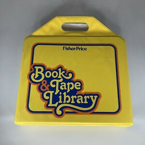 Fisher-Price Storage Case Book & Tape Library 7 Cassettes & 10 Read Along Books