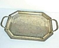 Vintage Old Antique Brass Handmade Bird Figure Embossed Decor Serving Plate/Tray