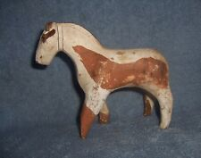 Antique Wooden Carved Primitive Folk Art Native American Indian Paint Horse Pony