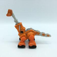 """2015 Mattel Dinotrux Skya Diecast Metal Dump Truck Orange Dinosaur 4"""""""