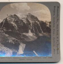 Temple Mountain from Saddleback near Lake Louise Canada Keystone Stereoview