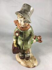 Boy Umbrella & Flowers Vintage Wagner & Apel Bertram W&A Porcelain Figurine