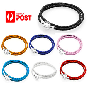NEW Braided Rope Leather Friendship Wristband String Charm Bracelet Punk Unisex