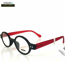 "MIASTO ""CIAO ITALY"" SMALL RETRO ROUND OAVL BOHO READERS READING GLASSES +2.50"