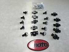 DZUS CLIP D RING FASTENERS KIT FOR RACEBIKES AND TRACKBIKES - RIVET STYLE 17MM