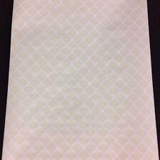 White Lattice Cream Ronald Redding Wallpaper #IG2123 (Lot of 7 Dbl RL
