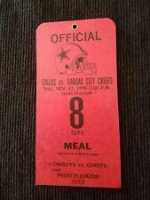 Dallas Cowboys Press Pass Ticket Texas Stadium Kansas City Chiefs 1995 Rare