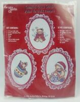 New 1995 Counted Cross Stitch Kit New Berlin Co 3215 Christmas Decorations Kraft