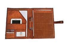 Leather Portfolio A4 Padfolio Organizer Business Executive Folder File Notepad