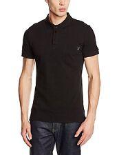 VERSACE JEANS Men's polo shirt con tasca sul petto e etichetta con logo in metallo Taglia XL (52IT) *