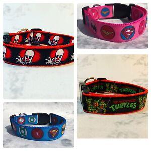 TV Film Superhero handmade Dog Collar, Marvel Batman, Superman, Comic, Star Wars