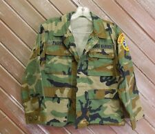 Woodland Camouflage Army Jacket Shirt Men's Size See Measuremtns