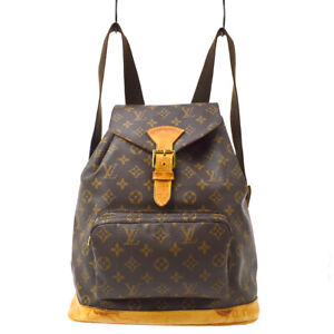 LOUIS VUITTON MONTSOURIS GM BACKPACK PURSE MONOGRAM M51135 ck 37908