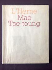 Mao Tse-Toung. Cahier de l'Herne n° 18, 1972. E.O. Tirage de Luxe 12/65 ex
