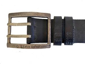 G Star Raw Mens Houston Leather Belt & Buckle Size 105