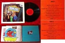 LP Sesame Street Book & Record Original Cast TV Show Sesamstrasse