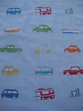 150cm Harlequin Go Go Retro cotton fabric remnant - mini vw beetle camper van