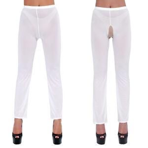 Women Mesh See-through Legging Skinny Tight Pants Lingerie Fitness Trousers
