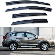 For Chevrolet Captiva Black Tinted Chrome Trim Window Visor Vent Shade Sun Guard