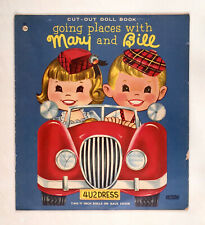 """""""GOING PLACES WITH MARY AND BILL"""" ABBOTT UNCUT PAPER DOLLS VINTAGE"""