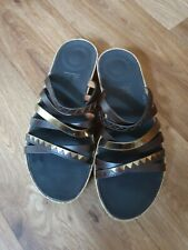 Fitflop Ladies Summer Sandals /sliders ,brows, Size Uk 6