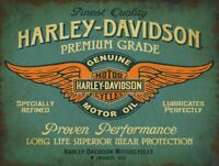 HARLEY DAVIDSON PREMIUM MOTOR OIL HEAVY DUTY USA MADE METAL ADVERTISING SIGN