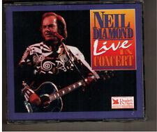 NEIL DIAMOND LIVE IN CONCERT<>1997 READER'S DIGEST 3 CD SET W/BOOKLET<>VG