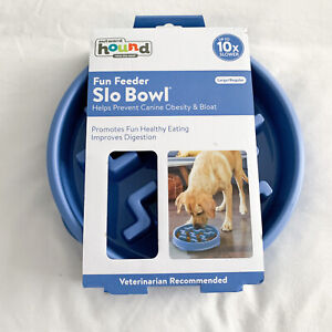 Outward Hound Fun Feeder Slo Bowl - Blue Slow Puzzle Feeder