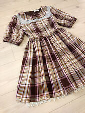 Trad kawaii Hime tunic dress LIZ LISA Japan-M See-through Romanitc Plaids Gyaru
