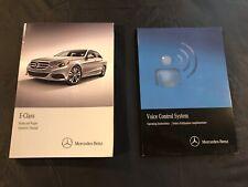 2015 Mercedes Benz E Class E250 E350 E400 E550 E63 AMG Owners Manual Set w// Disc