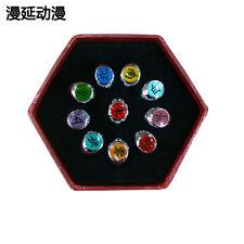 new Cosplay 10 pcs NARUTO Akatsuki member's Ring Set with box   AE28