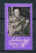 Brazil 2017 MNH Diplomatic Relations Chile Violeta Parra 1v Set Music Stamps