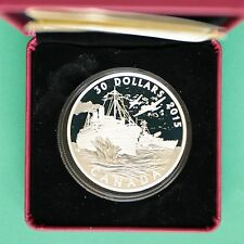 2015 Canada Cased 30$ Thirty Dollar Silver Proof Battle of Atlantic SNo45509