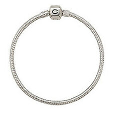 "Authentic NEW Chamilia Sterling Silver Snap Bracelet 7.9""  20.1cm  BA-4"
