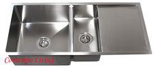 """42"""" 16 Gauge Stainless Steel Undermount Kitchen sink w 13"""" drainer Drain Board"""