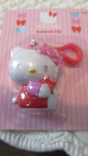 NEW HELLO KITTY RED STAR BY SANRIO PINK BACKPACK CLIP- PURSE TOTE KEY CHARM