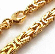 KÖNIGSKETTE VERGOLDET 7mm 80cm Halskette Herren Herrenkette Goldkette Männer neu