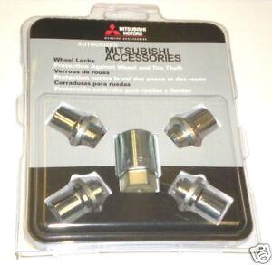 Genuine Mitsubishi Wheel Lock Set Lancer Galant Eclipse Outlander Montero