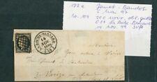 À VOS OFFRES ! [121] CERES lot de 2 lettres timbres n°3 cad T 13 dt Pontaillier