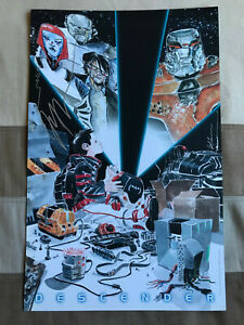 Jeff Lemire DESCENDER Autographed Print Dustin Nguyen ECCC 2015 Exclusive