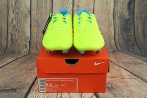Nike Magista Opus II SG-PRO ACC WMNS Soccer Cleats Volt White Blue 844220-718 SZ